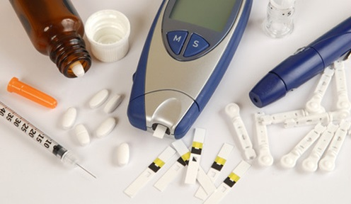 Diabetes equipment, used by patient
