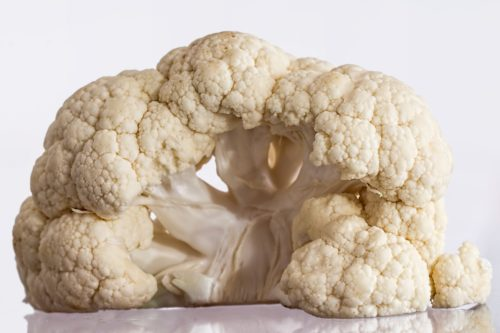 Cauliflower florets artfully arranged