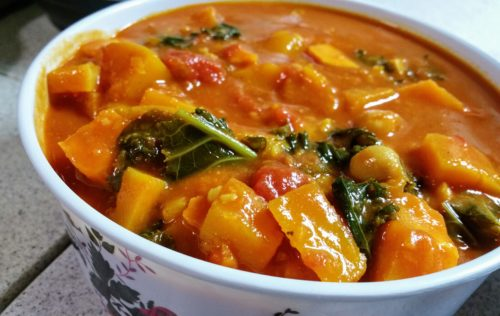 Low carb butternut squash & sweet potato stew