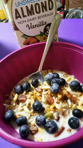 Low Carb Vegan Meusli Cereal with Almond Milk