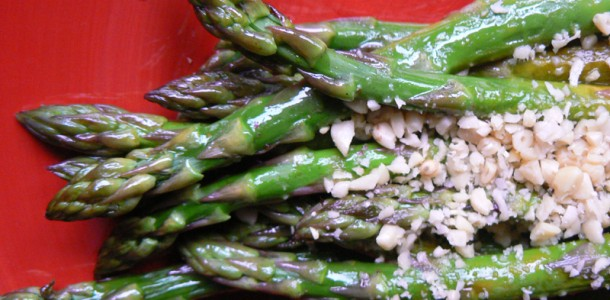 Asparagus with Pine Nuts Recipe - Diabetic Herbivore