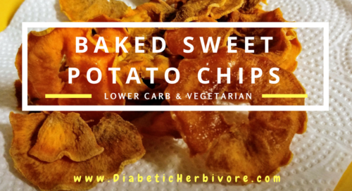 Baked sweet potato chips are a healthy, delicious, crispy snack - Diabetic Herbivore