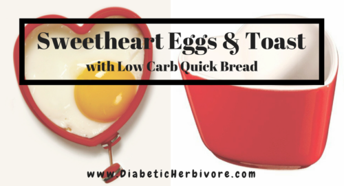 Sweetheart Eggs & Toast with Low Carb Gluten Free English Muffin bread